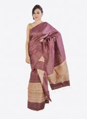 Light Purple Ghicha Silk Mekhela Chadar Set