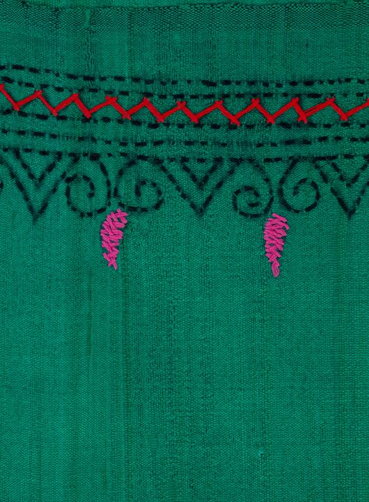 Kantha stitch ghicha silk mekhela chadar ethnic stripes