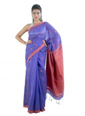 Purple Colour Gos Buta Saree