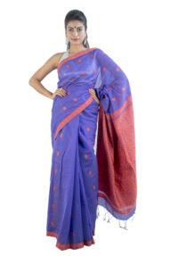 Purple Colour Gos Buta Saree