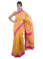 Peach Colour Pure Mulberry Silk Saree