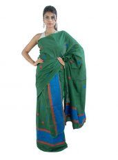Green and Blue Mekhela Chadar set