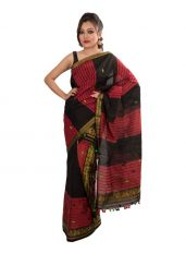 Tribal Stripes Mekhela Chadar with Zari border