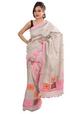 Eri Silk Mekhela Chadar with Box Design