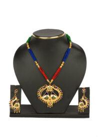 Mayur Set with Multicolour Meena work