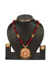 Raw Gold Red Jaapi Set