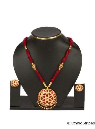 Raw Gold Red Jaapi Set