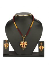 Butterfly Jewellery Set with Meena Work