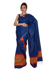 Blue Stripped Mekhela Chadar