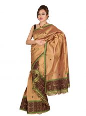 Copper Colour Bisoni design Mekhela Chadar