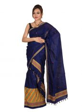 Blue Mishing Panel Mekhela Chadar