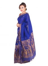 Royal Blue Bihu design Mekhela Chadar