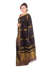 Black and Gold Brocade Mekhela Chadar