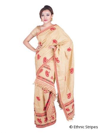 Muga Ghicha Japi design Mekhela Chadar