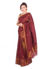 Coffee Colour Floral Chain Mekhela Chadar