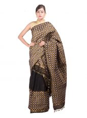 Black and White Checked Mekhela Chadar