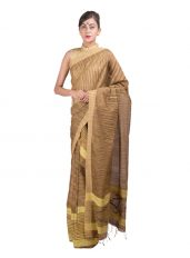 Yellow and Muga Matka Silk Mekhela Chadar
