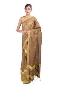 Yellow and Muga Matka Silk Mekhela Chadar