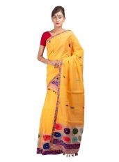 Yellow Nuni and Cotton Mekhela Chadar