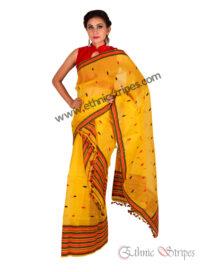 Yellow Brocade Style Nuni Mekhela Chadar
