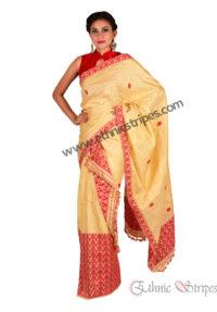 Muga Brocade Style Ghicha Mekhela Chadar