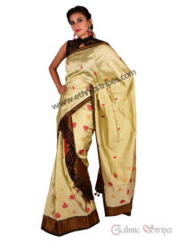 Cream Colour All Over Buti Mekhela Chadar