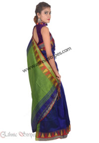 Green and Blue Pahar Design Saree