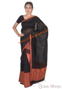 Black Mishing Panel Mekhela Chadar