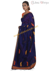 Royal Blue Mayur Design Mekhela Chadar