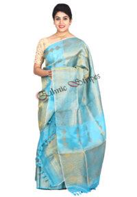 Blue Nuni Mekhela chador