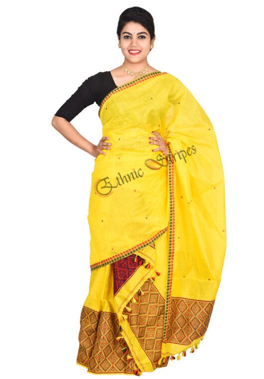 Yellow Mekhela chador